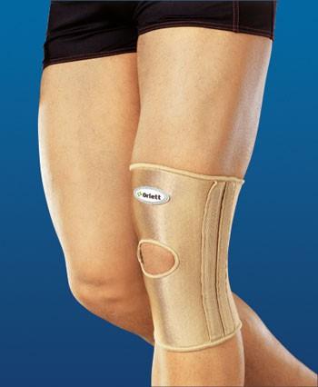 Бандаж на коленный сустав с отверстием и спиральными ребрами (RKN-103 (M))